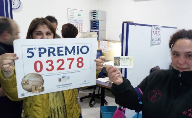 Los quintos premios dejan 2,09 millones en Laguna y visitan Renedo y Valladolid