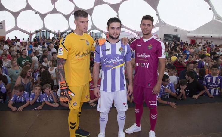 Presentación de la nueva equipación del Real Valladolid para la temporada 2017-2018