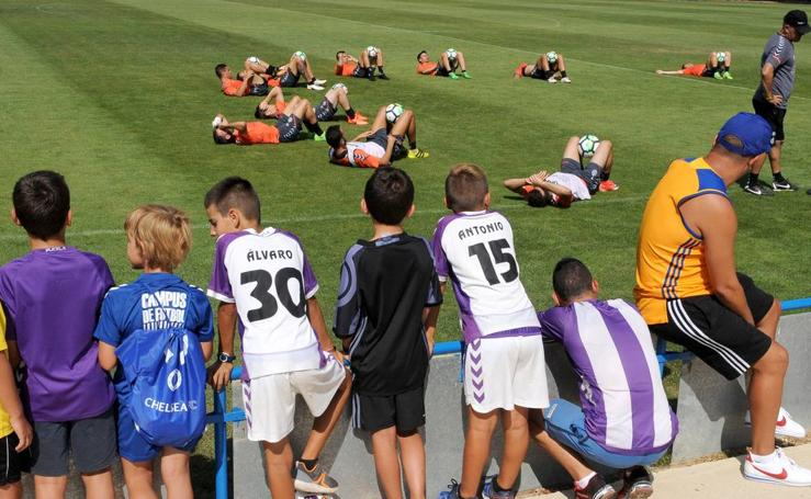 El Real Valladolid traslada sus entrenamientos a Medina de Rioseco