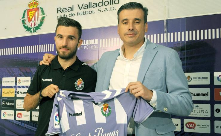 Presentación de Giannis Gianniotas como nuevo jugador del Real Valladolid