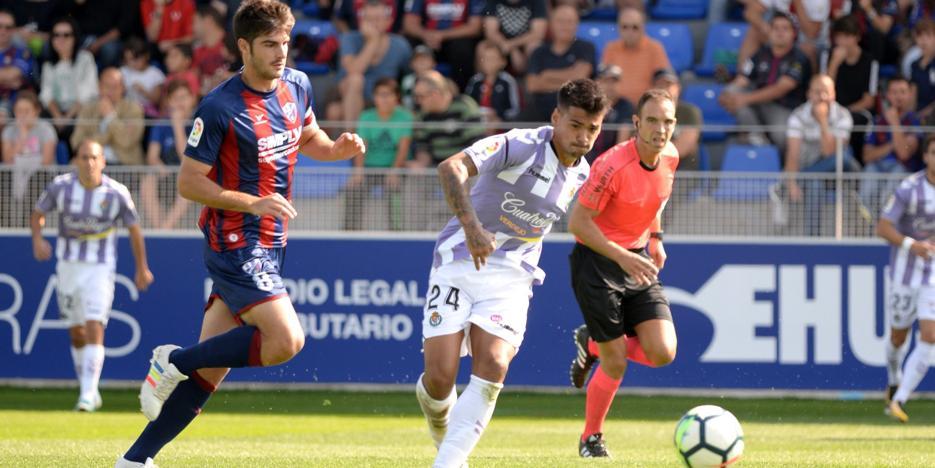 El Real Valladolid se seca en Huesca