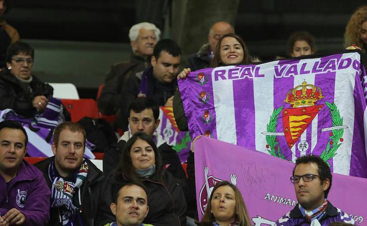 El Sporting-Real Valladolid, en imágenes