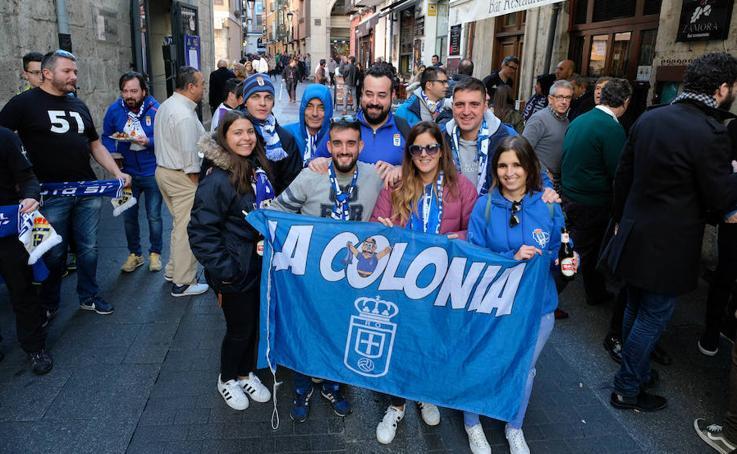 Los aficionados del Oviedo, en Valladolid