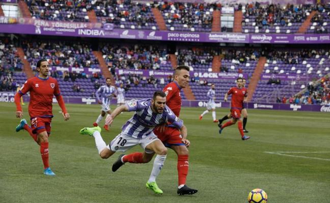 El Valladolid se condena a ser comparsa