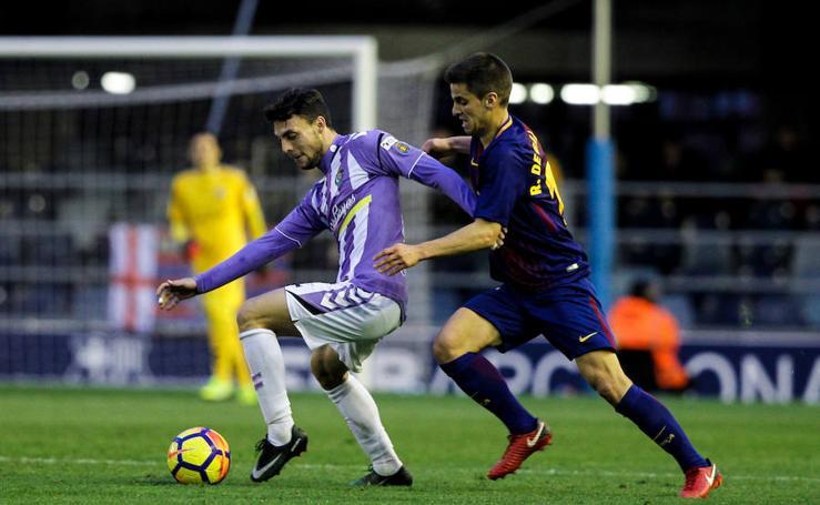 Victoria del Real Valladolid en el Mini Estadi ante el Barça B (0-1)