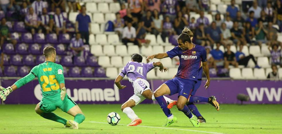 Luismi, Borja, Anuar, trivote contra el Barcelona B
