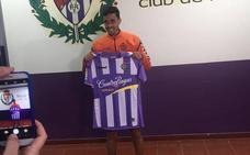 Borja Herrera en su presentación con el Real Valladolid: «Vengo preparado para jugar»