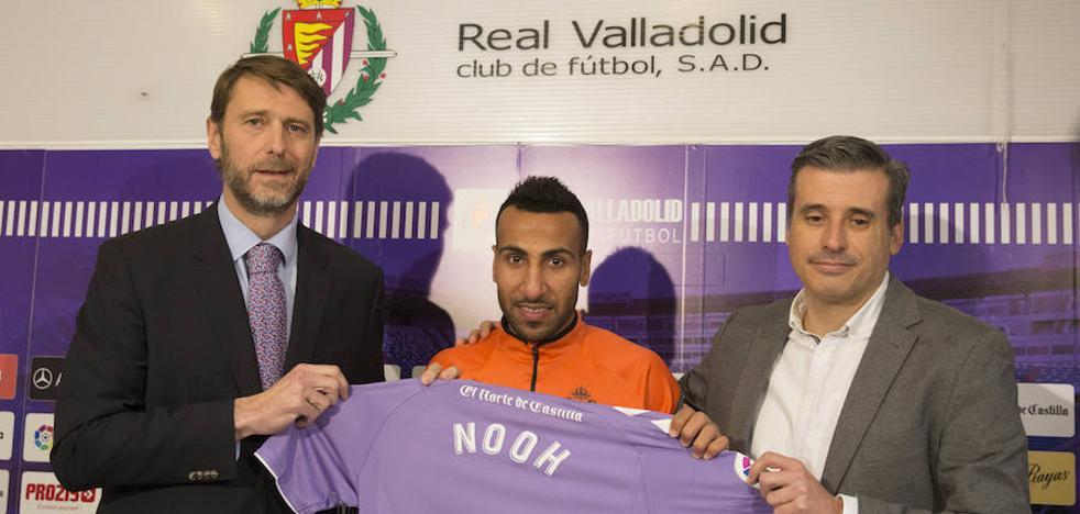 Al-Mousa en su presentación: «Vengo a mejorar y a ayudar al Real Valladolid a ascender»