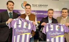 Presentación de Ontiveros y Toni Martínez con el Real Valladolid; pólvora para el ataque