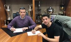 Raúl Navarro amplía su contrato con el Real Valladolid B un año