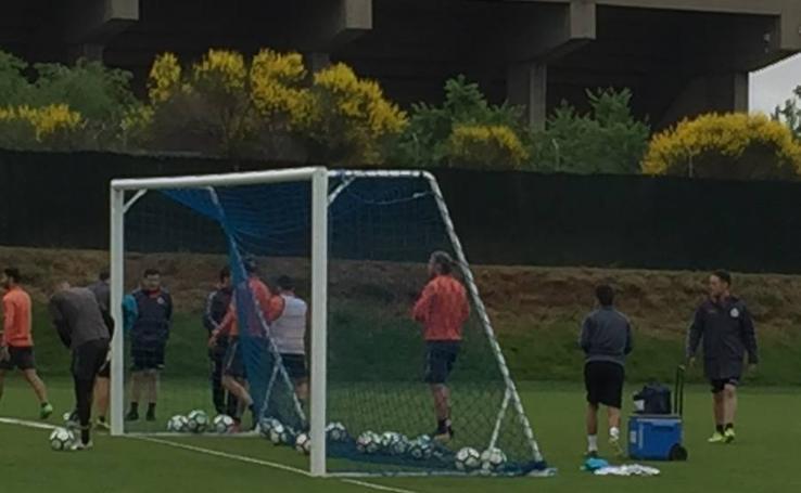 Gianniotas y Ontiveros llegan a las manos en el entrenamiento del Real Valladolid