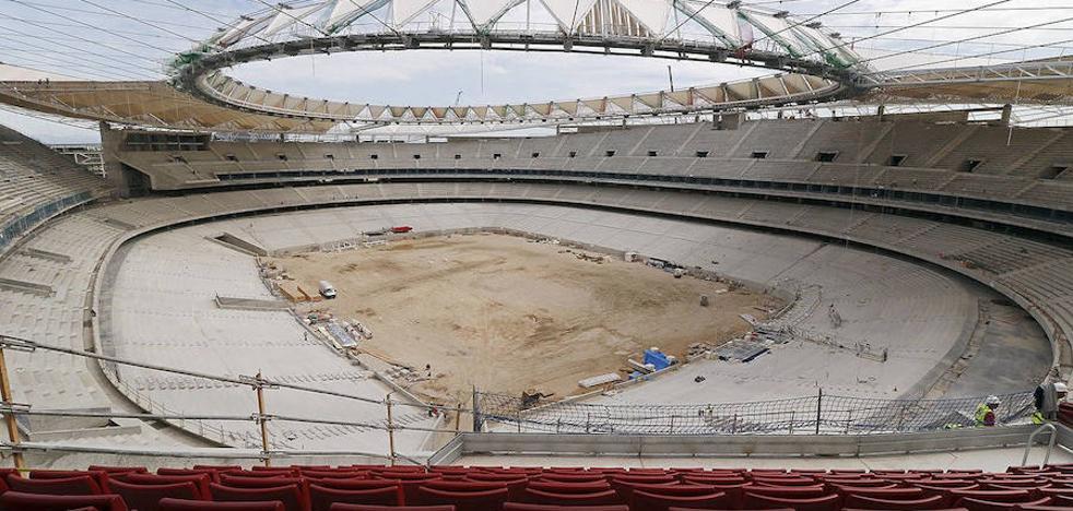 Hallan un obús de la guerra en el estadio Wanda Metropolitano