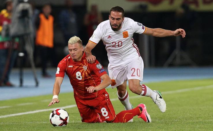 Las mejores imágenes del Macedonia-España