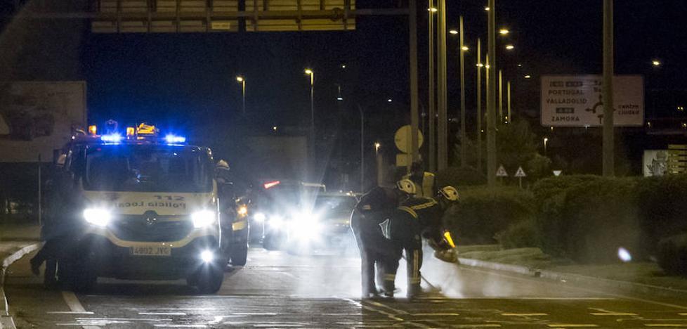 Cinco heridos en una colisión múltiple junto al Puente Romano de Salamanca