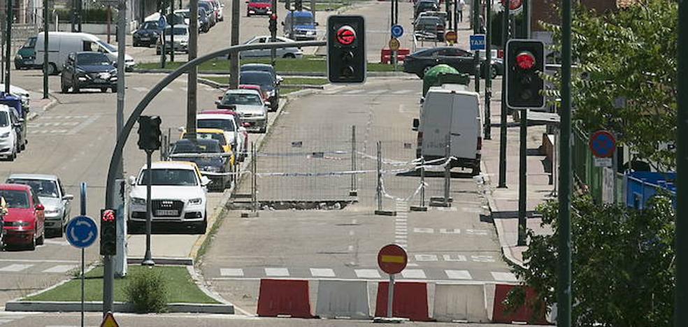 Dos heridos tras el choque de dos vehículos en un polígono de Valladolid