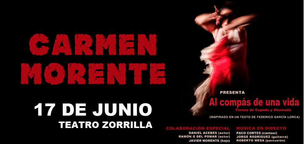 Carmen morente, protagonista del fin de semana
