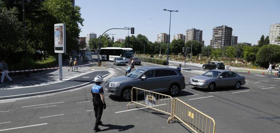 Los niveles de ozono en Valladolid bajan en el primer día de cortes