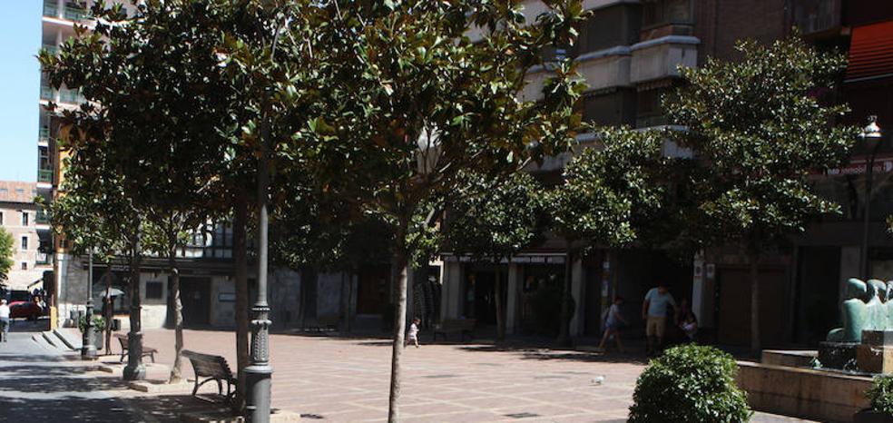 Herido al caerle un cascote en la Plaza de Coca