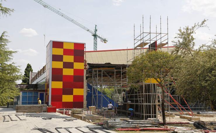 Obras de ampliación del pabellón de deportes de Palencia