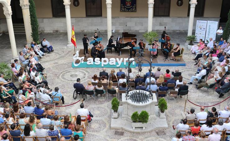 Aspaym celebra su 25 aniversario con un concierto en el Palacio Real de Valladolid