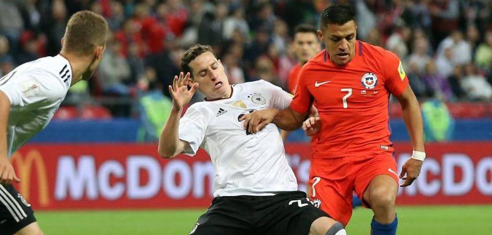 Chile y Alemania igualan en un vibrante duelo