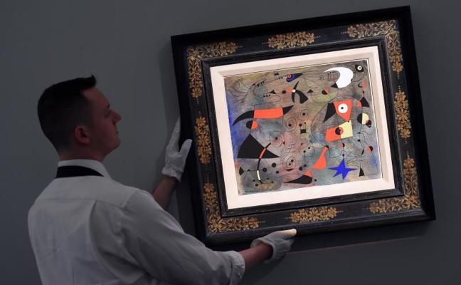 Subastan un cuadro de Miró en Londres por 28 millones de euros