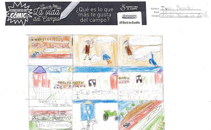 Trabajos de 4º de Primaria en la modalidad de cómic del I Concurso de Dibujo y Cómic 'La vida del campo'