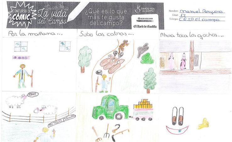 Trabajos de 6º de Primaria en la modalidad de cómic del I Concurso de Dibujo y Cómic 'La vida del campo'