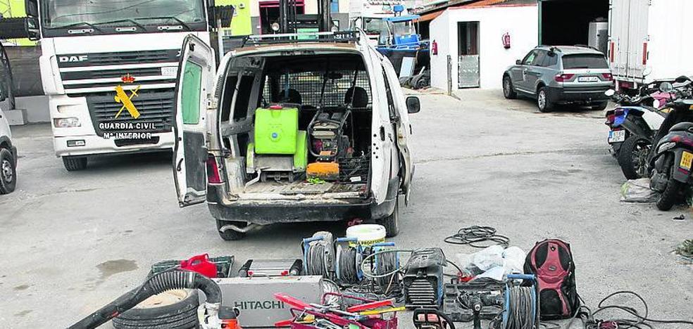 La Guardia Civil desarticula un grupo criminal especializado en robos con fuerza