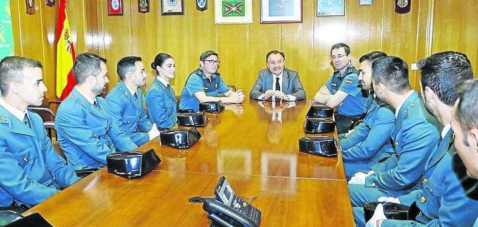 Once guardias civiles en la fase de prácticas reforzarán la plantilla de la Comandancia