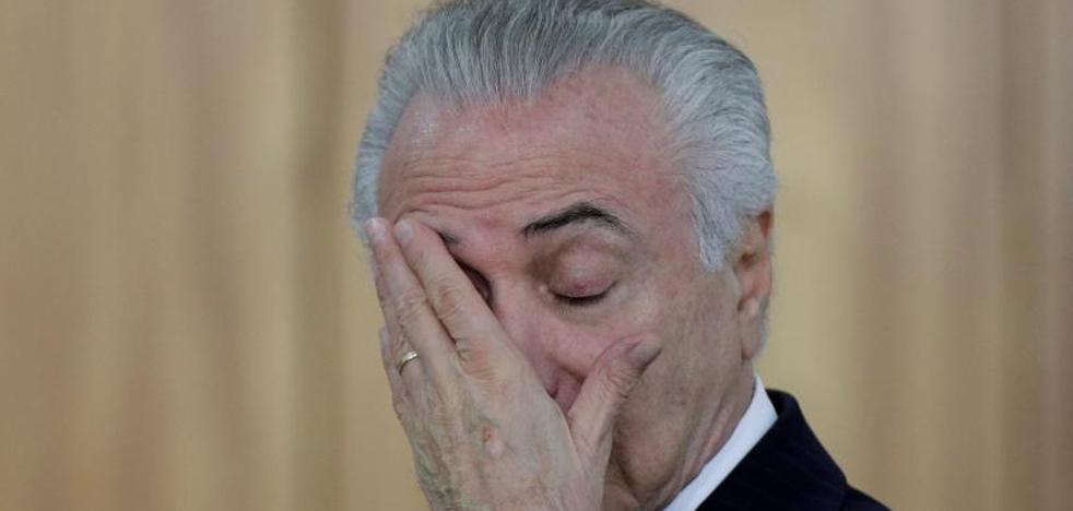 La Fiscalía brasileña denuncia a Temer por corrupción