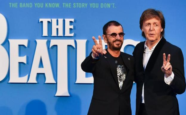 Ringo Starr (izq.) y Paul McCartney (dcha.)./AFP