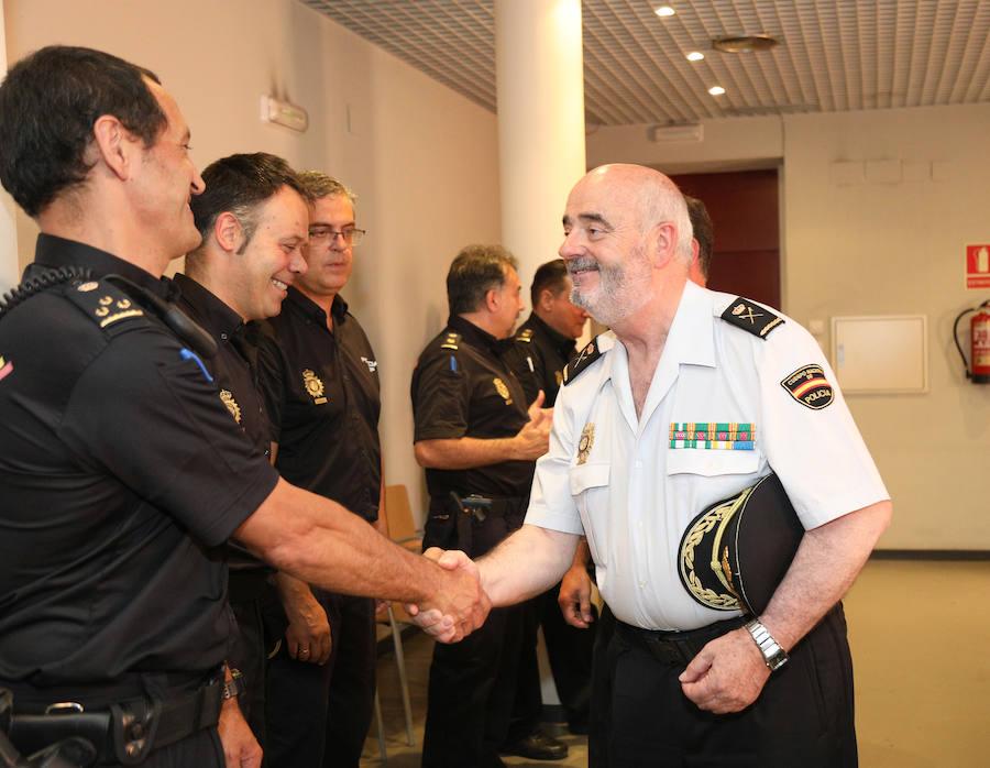 Presentación del nuevo Jefe Superior de Policía de Castilla y León, Jorge Zurita, en Palencia