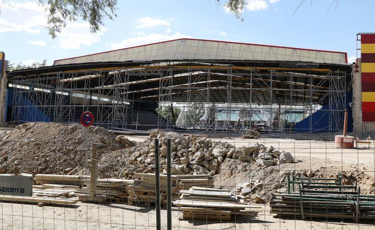 Obras en el pabellón de Deportes de Palencia