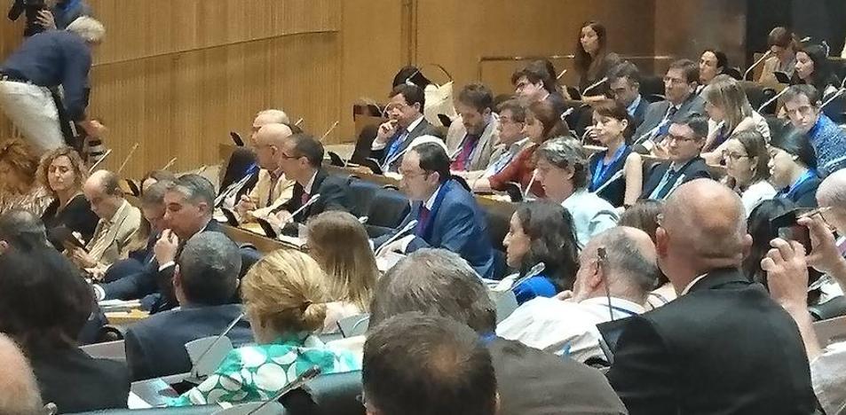 El alcalde de Palencia, en el Congreso de los Diputados
