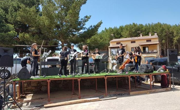 Ambiente previo a los conciertos de Músicos en la Naturaleza en Gredos