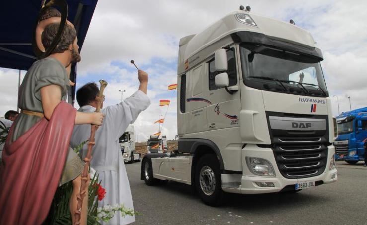 Celebración de San Cristóbal, patrón de los conductores, en Segovia