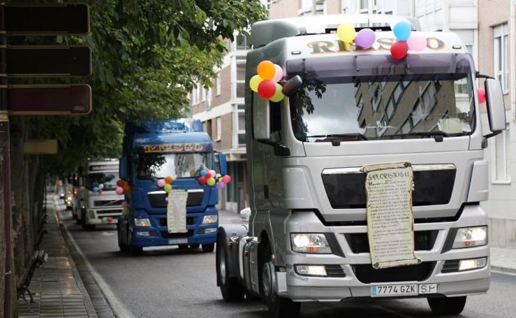 Celebración de San Cristóbal, patrón de los conductores, en Palencia