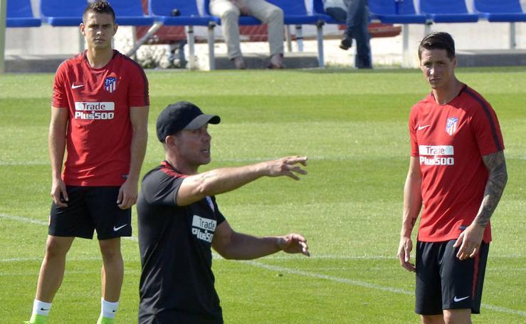 El Atlético de Madrid entrena en Los Ángeles de San Rafael