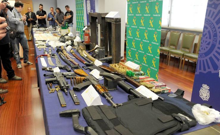 Material incautado en la operación 'Infierno' en la que se han detenido a 66 integrantes de una banda de narcotraficantes