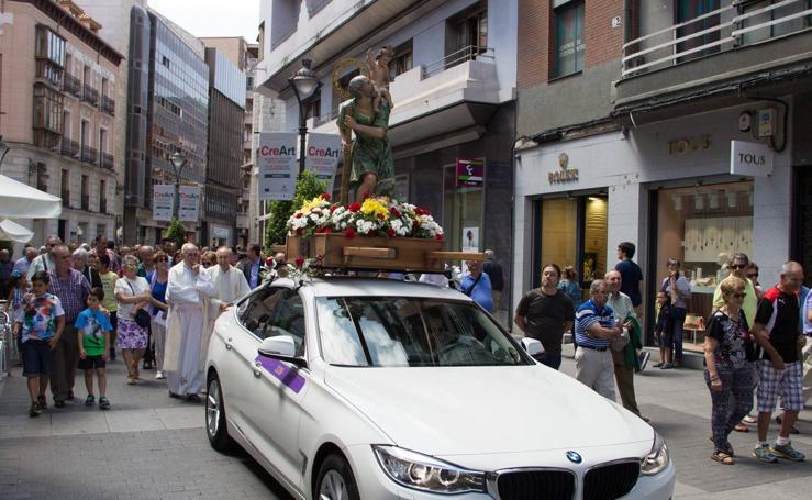 Los taxistas de Valladolid festejan a San Cristóbal