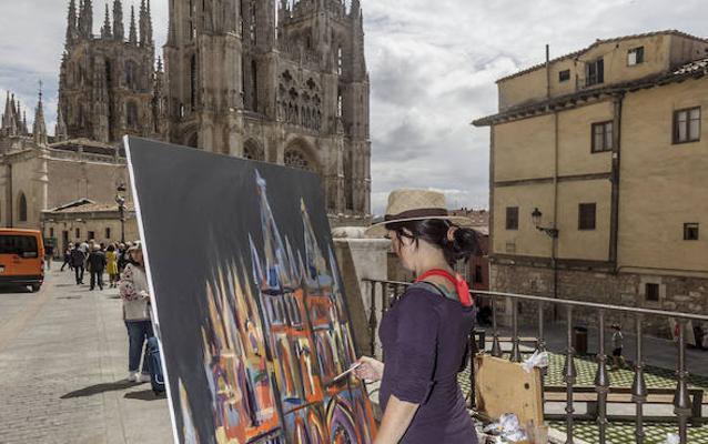 El concurso de pintura 'Catedral de Burgos' alcanzó los 500 participantes