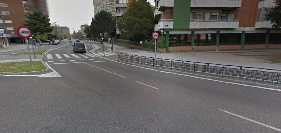 Dos ciclistas resultan heridos tras chocar en un carril bici de Valladolid