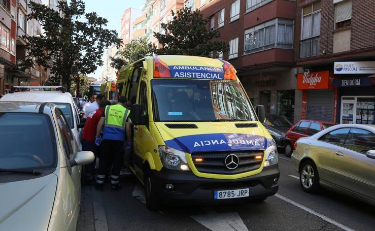 Cinco mujeres heridas por el frenazo de un autobús de Auvasa en Delicias