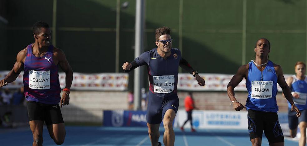 Óscar Husillos logra la mínima para el Mundial en el Meeting de Madrid