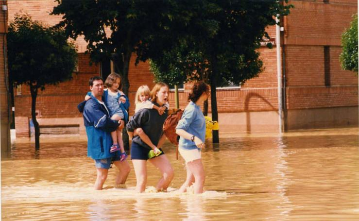 20 años de las inundaciones en el barrio 'Pan y Guindas' de Palencia