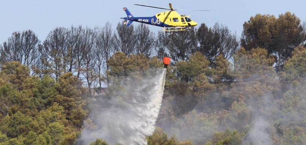 El incendio de Torremormojón, cerca de ser extinguido