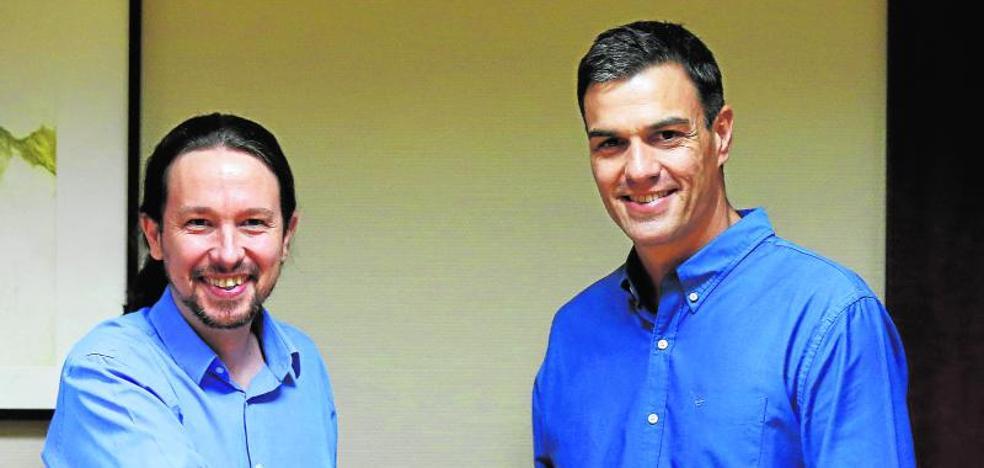 Sánchez e Iglesias se alían en la agenda social pero chocan en Cataluña