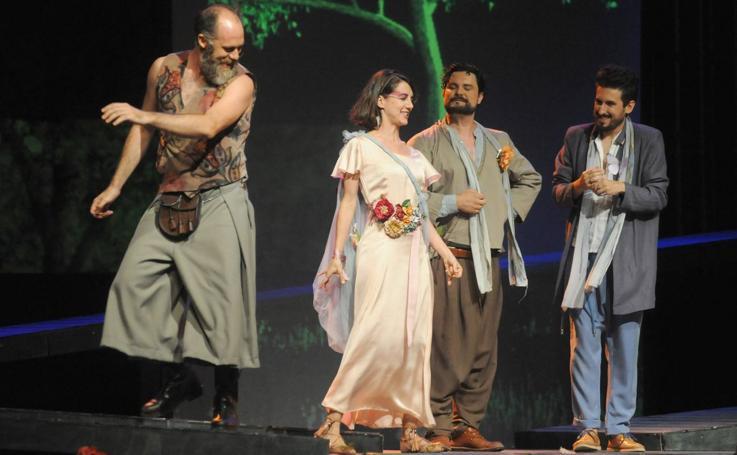 Representación de la obra 'Eco y Narciso' en el Festival de Teatro Clásico de Olmedo