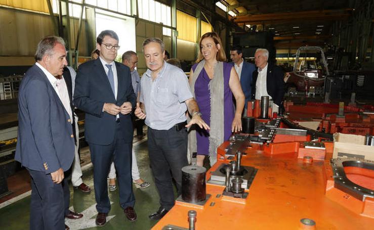 Mañuevo visita las instalaciones de la empresa Inmapa en Palencia